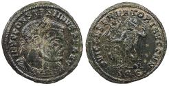 Ancient Coins - Constantine I, the Great 307-337 A.D. Follis Thessalonica Mint Near EF