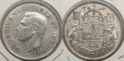 World Coins - CANADA: 1943 Wide date. 50 Cents