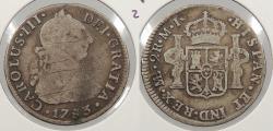 World Coins - PERU: 1783-LIMAE MI Charles III 2 Reales