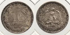 World Coins - MEXICO: 1925-Mo 10 Centavos