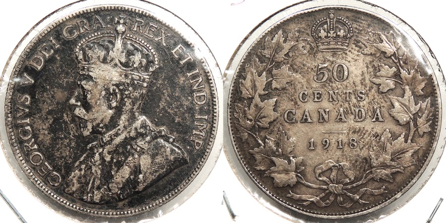 World Coins - CANADA: 1918 50 Cents