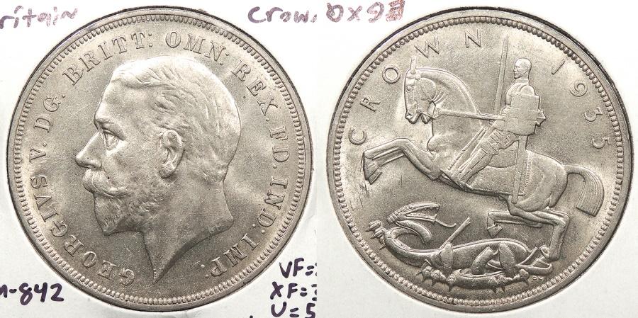 World Coins - GREAT BRITAIN: 1935 Crown