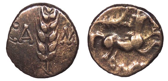 Ancient Coins - Britain Trinovantes & Catuvellauni Cunobelin Circa 10-43 A.D. Quarter Stater VF