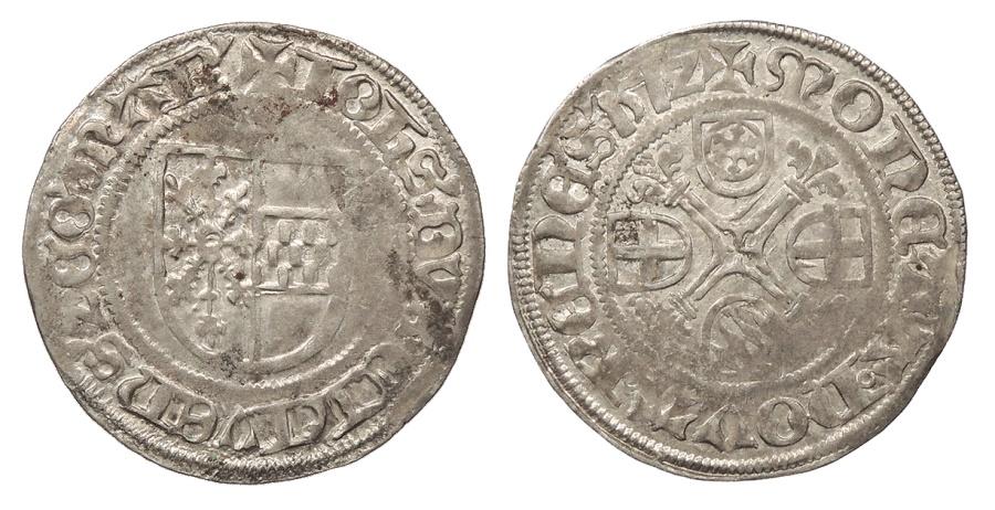 World Coins - GERMAN STATES Cleve (Kleve) Julich-Kleve-Berg-Kleve Johann II, Count 1512-C Albus Choice EF