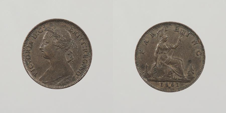 World Coins - GREAT BRITAIN: 1881-H Farthing
