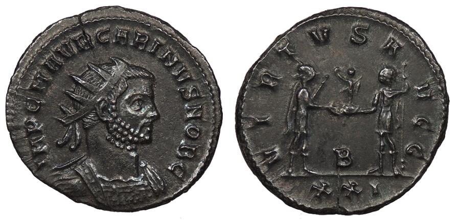 Ancient Coins - Carinus 283-285 A.D. Antoninianus Antioch Mint EF