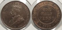World Coins - AUSTRALIA: 1933 Half Penny