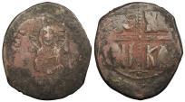 Ancient Coins - Anonymous, Time of Michael IV 1034-1041 A.D. Follis Constantinople Mint Fine
