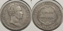 World Coins - NETHERLANDS EAST INDIES: 1827 1/4 Gulden