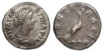 Ancient Coins - Faustina II, wife of Marcus Aurelius 149-175 A.D. Denarius Rome Mint VF