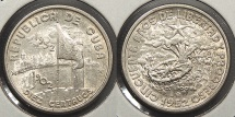 World Coins - CUBA: 1952 Commemorative 10 Centavos