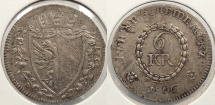 World Coins - GERMAN STATES: Nurnberg 1806 6 Kreuzer