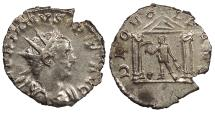 Ancient Coins - Valerian I 253-260 A.D. Antoninianus Lugdunum Mint Good VF