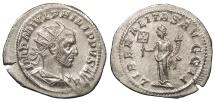 Ancient Coins - Philip I 244-249 A.D. Antoninianus Rome Mint EF
