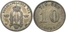 World Coins - SWEDEN: 1884 10 Ore