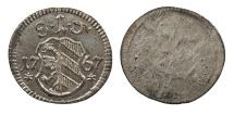 World Coins - GERMAN STATES Nurnberg (Nuremburg) Free Imperial city 1767 Pfennig AU/UNC