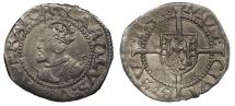 World Coins - FRANCE Besançon Charles V, as Holy Roman Emperor 1530-1556 1/2 Blanc 1541 Good VF