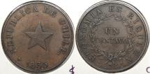 World Coins - CHILE: 1835 Centavo