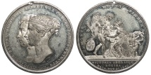 World Coins - GREAT BRITAIN 1840 White Metal 45mm. Medal EF