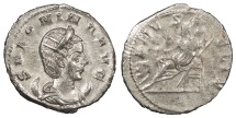 Ancient Coins - Salonina, wife of Gallienus 253-268 A.D. Antoninianus Lugdunum Mint Near EF