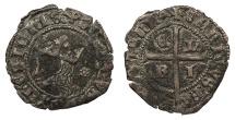 World Coins - SPAIN Castille & Leon  Enrique II 1369-1379 Cruzado  Good VF
