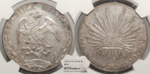 World Coins - MEXICO 1889-Mo MH 8 Reales NGC MS-61