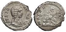 Ancient Coins - Julia Domna 196-211 A.D. Denarius Rome Mint Good VF