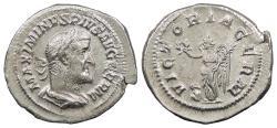 Ancient Coins - Maximinus I 235-238 A.D. Denarius Rome Mint Good VF