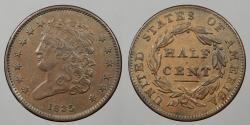 Us Coins - 1835 Classic Head 1/2 Cent