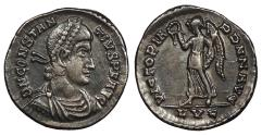 Ancient Coins - Constantius II 337-361 A.D. Siliqua Lugdunum Mint VF Ex Harptree Hoard, found in 1887.