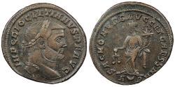 Ancient Coins - Diocletian 284-305 A.D. Follis Rome Mint Good VF