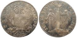 World Coins - PERU 1822-LIMA JP 8 Reales Near EF