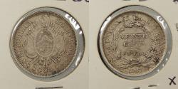World Coins - BOLIVIA: 1887-PTS FE 20 Centavos