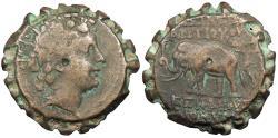Ancient Coins - Seleukid Kings Antiochos VI, Dionysos 144-142/1 B.C. Serrate AE22 VF