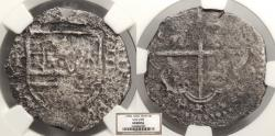 World Coins - SPAIN Philip II or Philip III ND (1574-1621) 4 Reales NGC No Grade