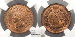 Us Coins - 1869 Indian Head 1 Cent NGC MS-64 RB