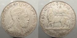 World Coins - ETHIOPIA: EE1889 (1897)-A Birr