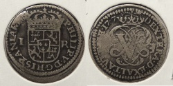 World Coins - SPAIN: 1707-Y Real