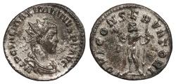 Ancient Coins - Maximianus 286-305 A.D. Antoninianus Lugdunum Mint Near EF