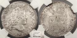 World Coins - GERMAN STATES Lothringen (Lorraine) Leopold Joseph, the Good 1716 Teston NGC MS-61