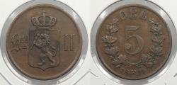World Coins - NORWAY: 1899 5 Ore