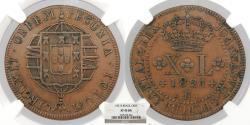 World Coins - BRAZIL Joao VI 1821-R 40 Reis NGC EF-45