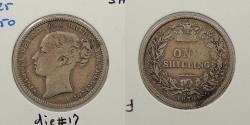 World Coins - GREAT BRITAIN: 1870 Victoria; Die #17 Shilling