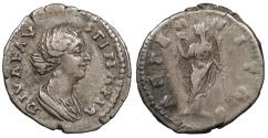 Ancient Coins - Diva Faustina II Died 176 A.D. Denarius Rome Mint Good VF
