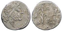 Ancient Coins - T. Cloelius 98 B.C. Quinarius Rome Mint VF