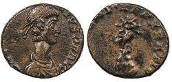 Ancient Coins - Constantius II 337-361 A.D. AE4 Trier Mint Good VF