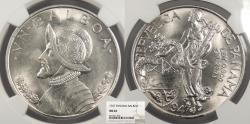 World Coins - PANAMA 1947 Balboa NGC MS-64