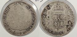 World Coins - PERU: 1793-LIMAE IJ Charles IV 2 Reales