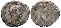 Ancient Coins - Hadrian 117-138 A.D. Denarius Rome Mint VF