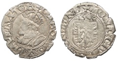 World Coins - FRANCE Besançon Charles V, as Holy Roman Emperor 1530-1556 Blanc 1548 Good VF